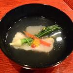 祇園もりわき - 蕪豆腐とぐじのお椀
