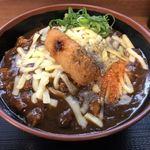 麺屋 まる - 火曜日限定カレーうどん! 3/20まるの日で大盛り無料! チーズトッピング!