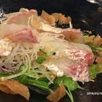 Chinese 李香 - 真鯛の刺身サラダ