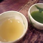 茶の葉 - Hakoさんは静岡の茶葉。こんなに色も違う~