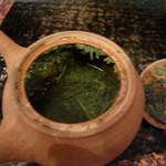 茶の葉 - 茶葉も色鮮やか