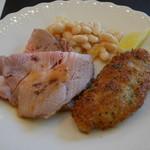 びすとろぽたじぇ - メイン 豚肉の低温ローストと豚へレかつ