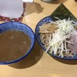 麺匠 名人房 - つけ麺全粒粉入り麺中盛