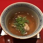 太庵 - 炊合せ(牡蠣と湯葉)