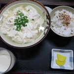 とうふの比嘉 - ゆし豆腐セット大@450円(税込み)