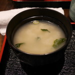 とんかつ上善 - シジミの味噌汁