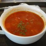 フーフー - ひよこ豆と鶏肉のトマトスープ