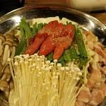 北堀江 ほおずき - 明太子もつ鍋!スープが選べます(≧∇≦)b