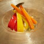82770141 - 「いろいろ野菜の自家製ピクルス」