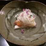 はた田 - 料理写真:本ミル貝と菜の花の酢の物