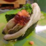 回転寿司 魚どんや - 蒸し牡蠣軍艦