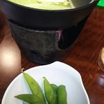下呂彩朝楽 - 自分で作る小鍋 枝豆