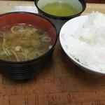 下呂彩朝楽 - 朝食バイキング 〆の 味噌汁 ご飯