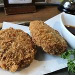 農業高校レストラン - 加古川「肉のヒライ」のミンチカツ(2018.3.21)
