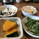 農業高校レストラン - 小鉢が4品(2018.3.21)