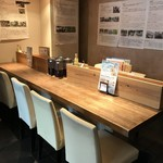 農業高校レストラン - 中央の大テーブル(2018.3.21)