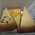ガトーよこはま - チーズケーキ3種類