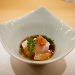 割烹 うづき - 桜鯛の白子 ポン酢ジュレ