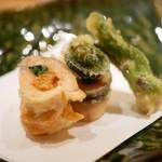 割烹 うづき - 天ぷら盛り合わせ