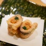 割烹 うづき - 天ぷら 桜鱒と雲丹
