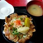 にんにく豚丼 京都・西浦 - にんにく豚丼 ごはん500g