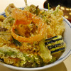 茂竹 - 料理写真:かき揚げ天丼
