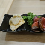 仙臺驛日本酒バル ぷらっと - 飲み比べおつまみセットの小鉢