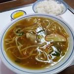 三佳食堂 - 料理写真:カレー中華 500円 めし(中) 200円