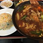 福来飯店 - 広東麺と半チャーハン