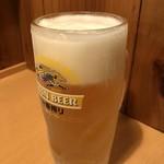麺や 福十八 - 生ビール 280円