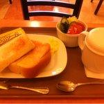 タカノコーヒー・アザブ - 朝カレートーストセット