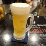 カフェ&ダイニング アオハナ - キンキンに冷えた生ビール(600円)