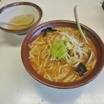 こまどり - 味噌ラーメン(割りスープ付き) 760円