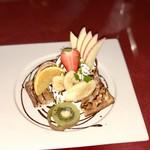 Kafeameri - 抹茶とチョコのワッフル(¥745)税込