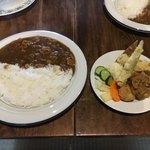 Benの台所 - 料理写真:ランチ カレーのセット 800円 丁度いい量かも(*゚∀゚*)
