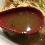 つけ麺 しろぼし - しろぼし味玉らーめん スープ
