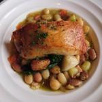 ビストロウー・ルー - 鶏もも肉のコンフィー 野菜とお豆さんのブイヨンスープ仕立て