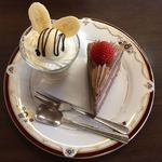 白い森 - 料理写真:よくばり3点セット800円(飲み物が写ってませんが)