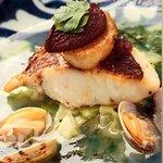 むくの実亭 - 真鯛のポアレあさりと青のりのスープ仕立て
