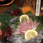 九州 熱中屋 - 活豊後サバ刺(半身2500円)