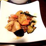 家族亭 - 鶏の黒酢餡
