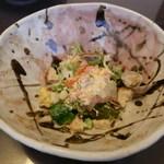 創作おうどん 遊佳 - 真鯛とサーモンの和風カルパッチョ