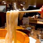 恵比寿山半 - 太麺で食べごたえあります