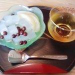 カフェ・チコ - みつ豆 煎茶付き