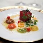 レストラン クレッセント - トマトのコンプレッション トマトオイル風味