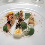 レストラン クレッセント - オマールブルトン ホワイトアスパラガスのデクリネゾン