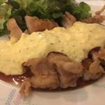 沖縄創作ダイニング 菜美ら - メインのチキン南蛮、かなりボリュームありましたよ