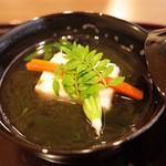 日本料理 子孫 - 海老と筍真薯のお椀