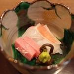 日本料理 子孫 - お造り~鮪、鯛、烏賊
