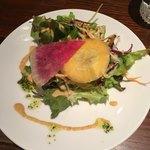 キッチン ハセガワ - ランチのセットサラダ。ハーフ&ハーフ 1120円